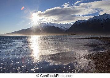 Chilkat River Estuary Sunset