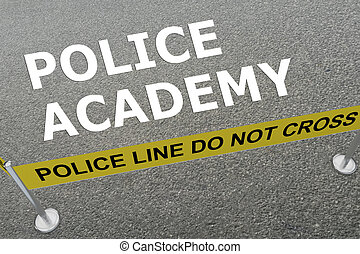 Police Academy concept - 3D illustration of 'POLICE ACADEMY'...