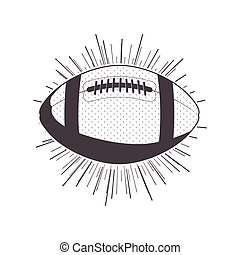 gray scale silhouette with football ball vector illustration