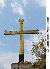 As religious symbol cristian cross icon