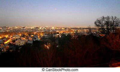 Night panorama of Rome. Italy