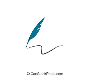 Feather pen Logo Vector - Vector logo design element on...