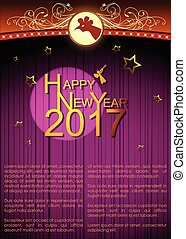 Abstract of Happy New Year 2017. Vector and Illustration,...