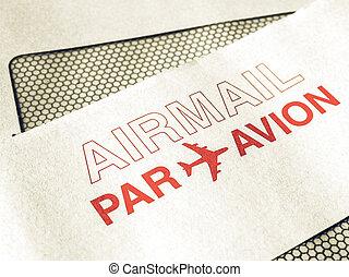 Vintage looking Airmail