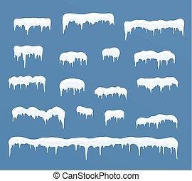 Ice caps set.