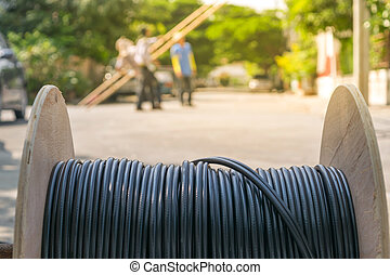 Working to install internet fiber system - Working for...