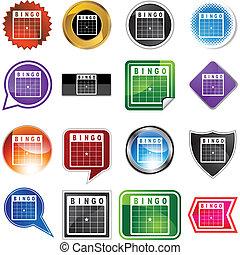 Bingo Card - Bingo card web button isolated on a background