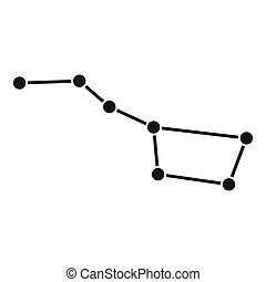 The Great Bear constellation icon, simple style