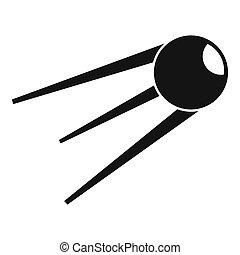 icono,  simple, estilo,  Sputnik