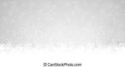 abstract snow flakes background - snow flakes on bottom...