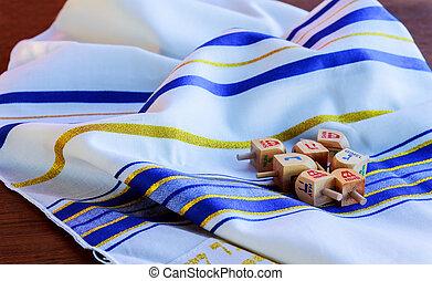 Jewish Holiday Hanukkah Tallit religious symbol - Jewish...