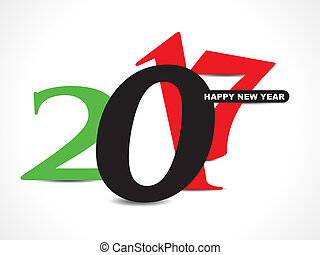 abstract 2017 happy new year graphic text style vector...