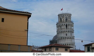 PISA, Italy - SEPTEMBER 7, 2016. Leaning Tower Pisa. View...