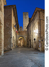 San Gimignano is a small walled medieval hill town in the...