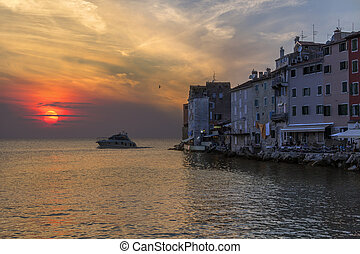 Sunset - Rovinj - Croatia - Sunset at the city of Rovinj in...