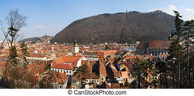 Medieval city Brasov, Transylvania, Romania - Center of the...