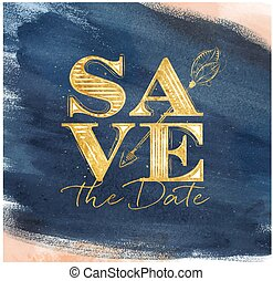 Poster wedding save date blue - Poster wedding lettering...