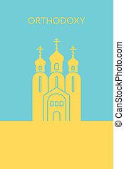 Orthodox christianity church icon. Religious building....