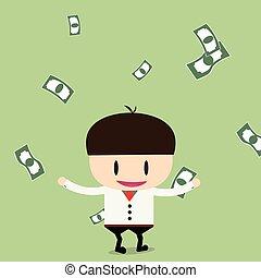 plano, Ilustración, cheques, prima, grande, suma, vector,...