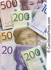 Swedish Currency Close Up - Swedish Currency (Notes) Close...