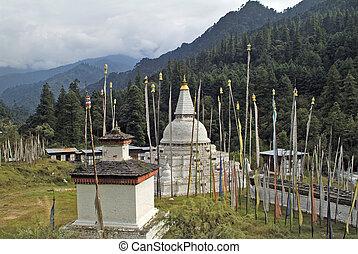Bhutan, Trongsa, 2093 - Bhutan, Chendebji Chorten