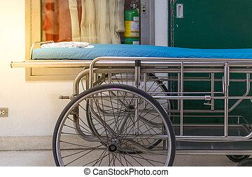 病院, 緊急事態, ベッド, 空