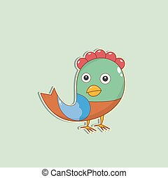 Vector color Christmas Bird