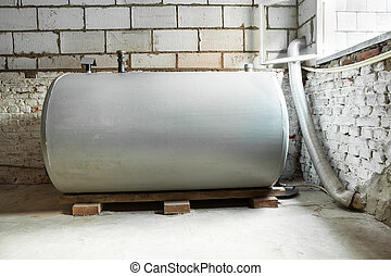 heating oil tank - in a separate room in a old building,...