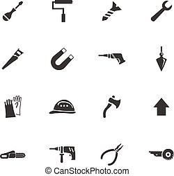Construction and repair icons set