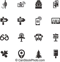 Travel icons set and symbols for web user interface