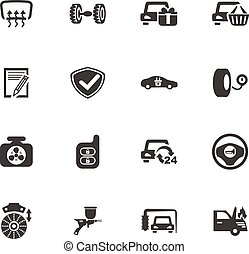 Car service icon set - Car service maintenance icons set and...