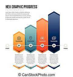 Hex Graphic Progress - Vector illustration of hex graphic...