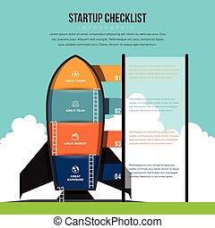 Startup Checklist Infographic