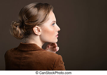 Portrait of young woman - Side view portrait of young woman...