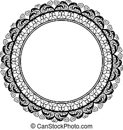 Round decorative frame border design
