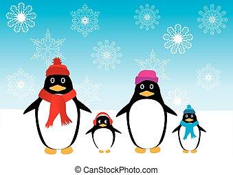 penguin family