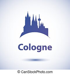 Vector silhouette of the symbol of Cologne Germany - Cologne...