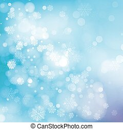 Lights On Blue Background Vector Illustration - Blue...