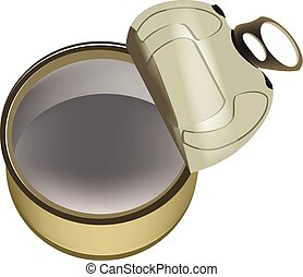 Empty Opened Tin Can - Empty open tin can for food...