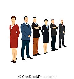 Teamwork and Corporate People. Vector Illustration