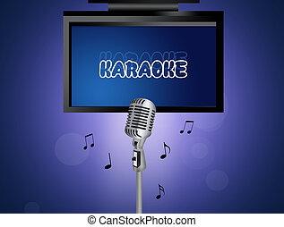 illustration of karaoke