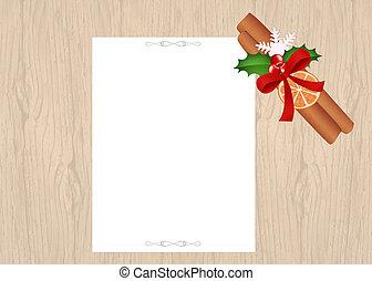 Christmas letter - illustration of Christmas letter