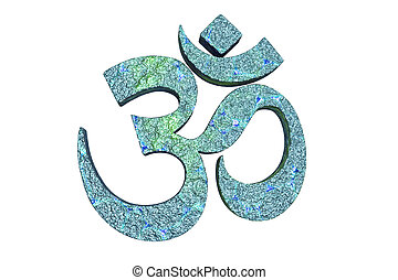 Hindu word reading Om or Aum symbol