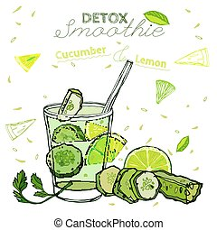 Cucamber Lemon Smoothie 01 A - Detox cucumber and lemon...