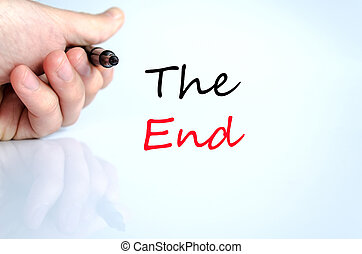 The end text concept isolated over white background