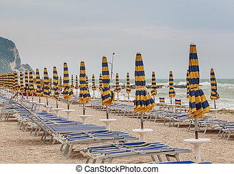 Beach of Numana in Conero riviera, Marche, Italy