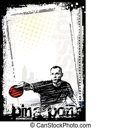 ping pong poster background 3 - sketching of the ping pong...