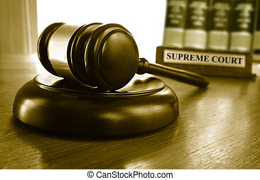Supreme Court gavel - Judge's Supreme Court gavel with law...