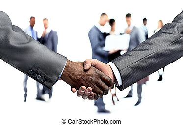 handshake of business partners.a successful agreement -...