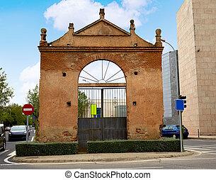 Caceres door at Av Hispanidad in Spain - Caceres door at...